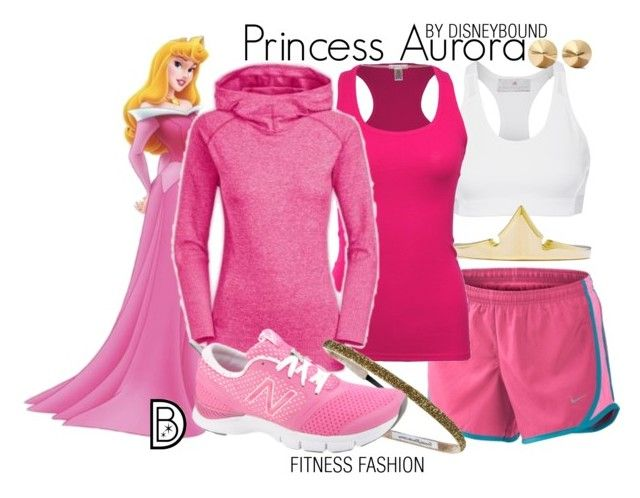 """""""Princess Aurora"""" by leslieakay ❤ liked on Polyvore featuring adidas, NIKE, Bozzolo, The North Face, New Balance, Eddie Borgo, women's clothing, women, female and woman"""