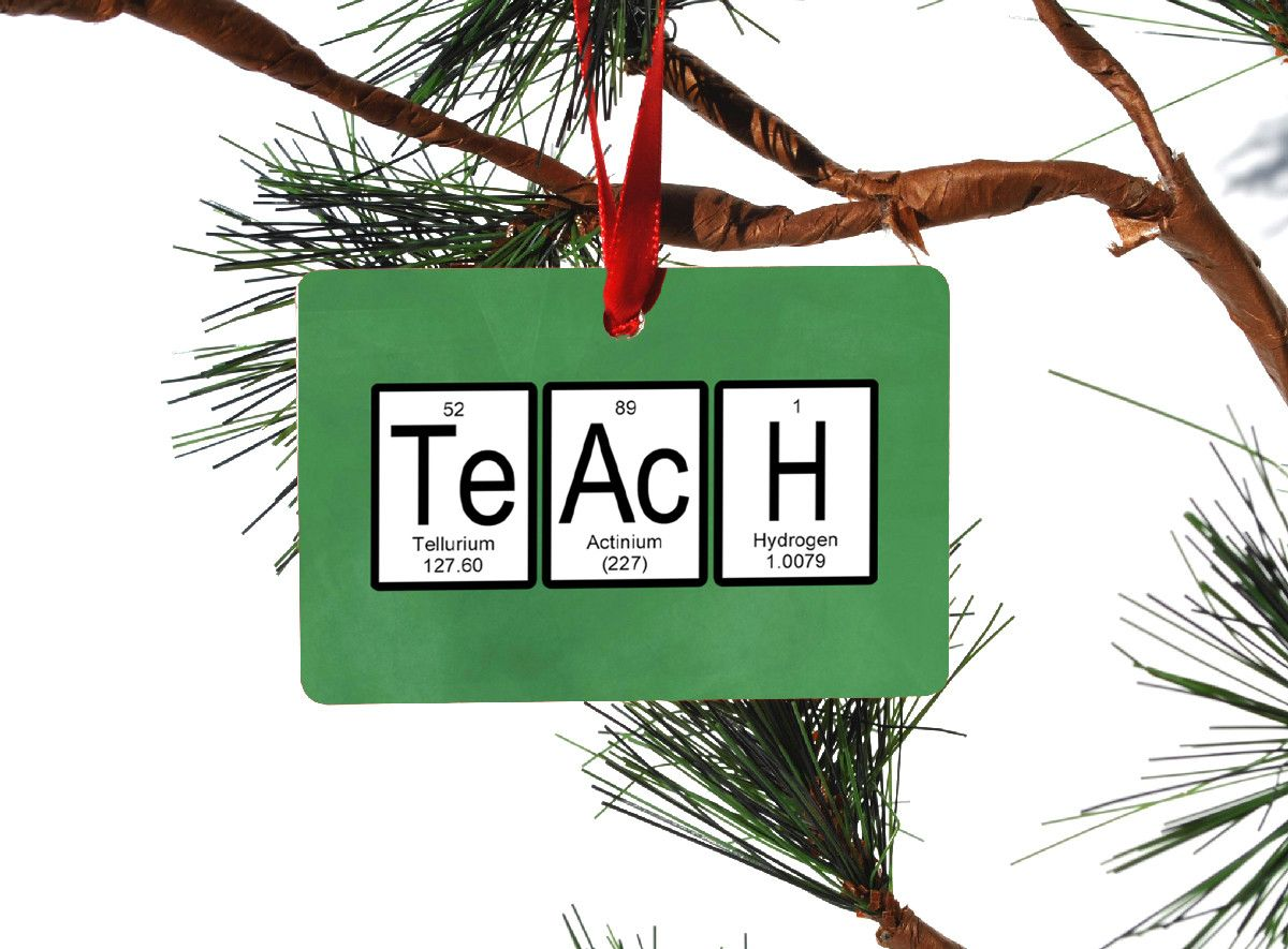 Teach periodic table of elements christmas ornament periodic table teach periodic table of elements christmas ornament urtaz Choice Image
