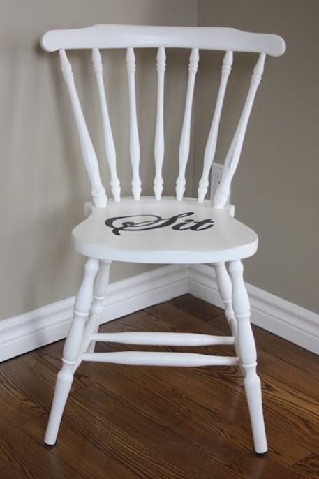 Paint A Wood Chair This Would Be Good For Timeout Stoelen