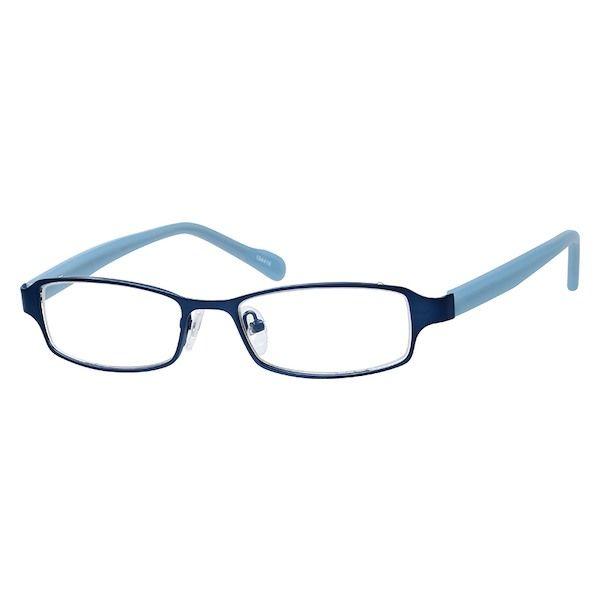 Zenni Kids Rectangle Prescription Eyeglasses Blue Plastic 194416 ...