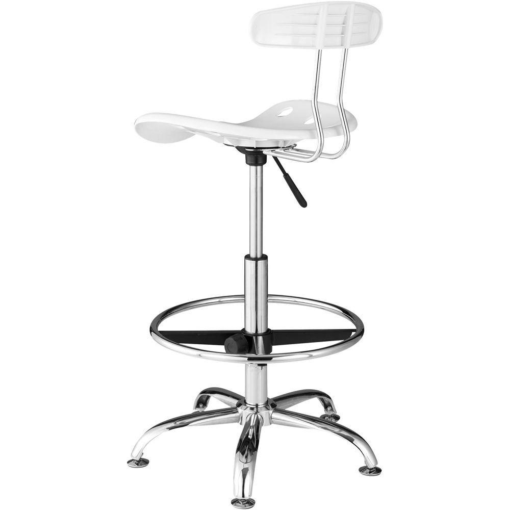 Molded plastic and metal chairs - Comfort Chrome Plated Metal Molded Plastic Chair White