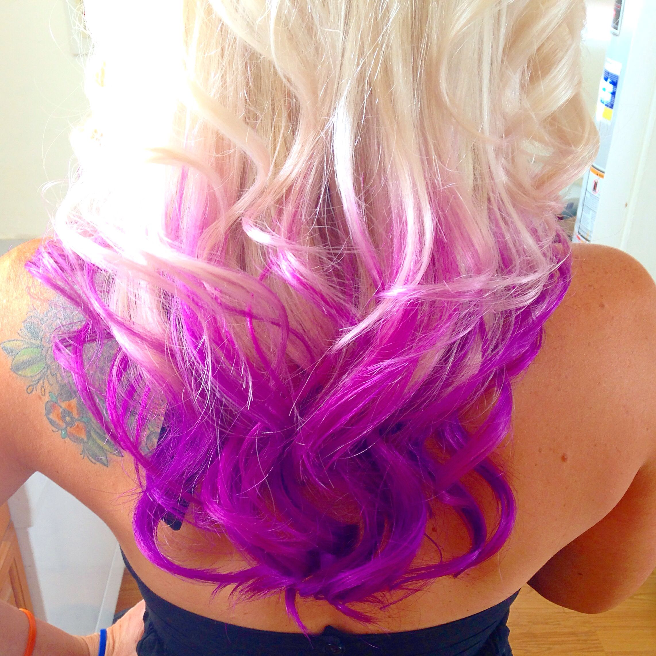 Color Intensity Orchid, Magenta and Amethyst Purple to create this ...