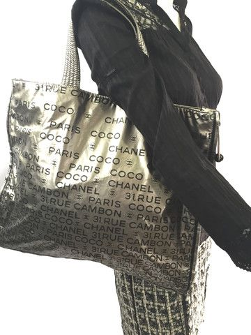 a321473babca Chanel Metallic 31 Rue Cambon Tote Bag Extra Large. Payment Plan Available