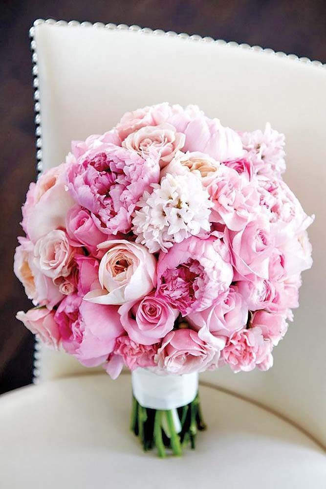 30 Soft Pink Wedding Bouquets To Fall In Love With