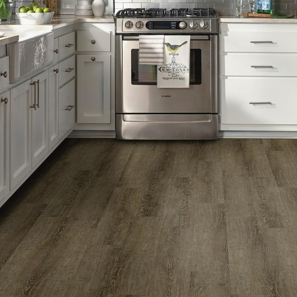 Trafficmaster Grey Ash 6 In X 36 In Peel And Stick Vinyl Plank 36 Sq Ft Case Wd9417 The Home De Peel And Stick Vinyl Vinyl Plank Vinyl Plank Flooring