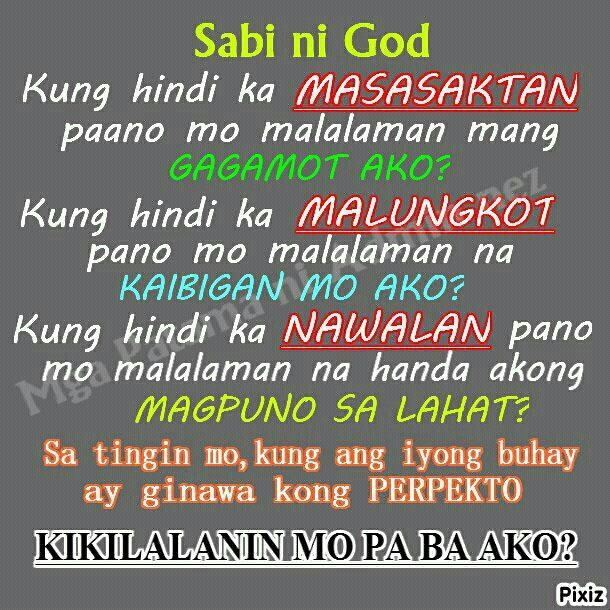 sabi ni God        | Tagalog Quotes Collection | Trust quotes
