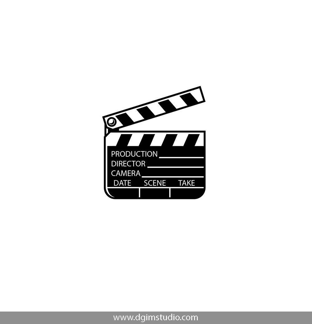 Clapperboard Monochrome Elements Emblems Clapper Vintage Cinema Badges Style Movie Board C Instagram Highlight Icons Instagram Icons Instagram Logo