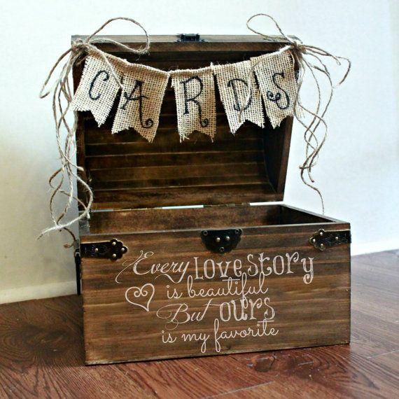 Shabby Chic Rustic Wooden Card Box Wedding Via Etsy Instead Of