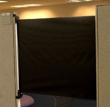 Office cube door Diy Cubicle Door Increases Productivity Isolation From Annoying Coworkers Curbly Diy Design Community Pinterest Cubicle Door Increases Productivity Isolation From Annoying Co