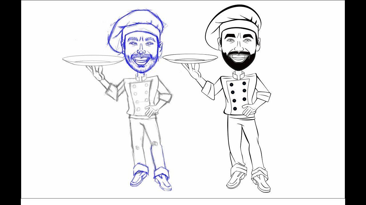 Como Vetorizar Um Mascote Desenho Feito A Lapis No Corel Draw P2