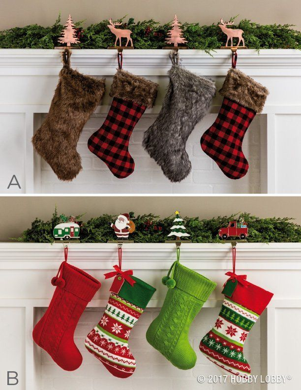 Make a statement with your stocking holders whether your Christmas