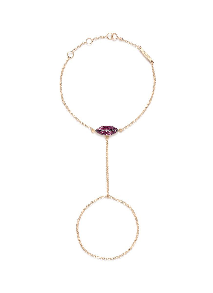 Ruby & yellow-gold necklace Delfina Delettrez Myk5Ei