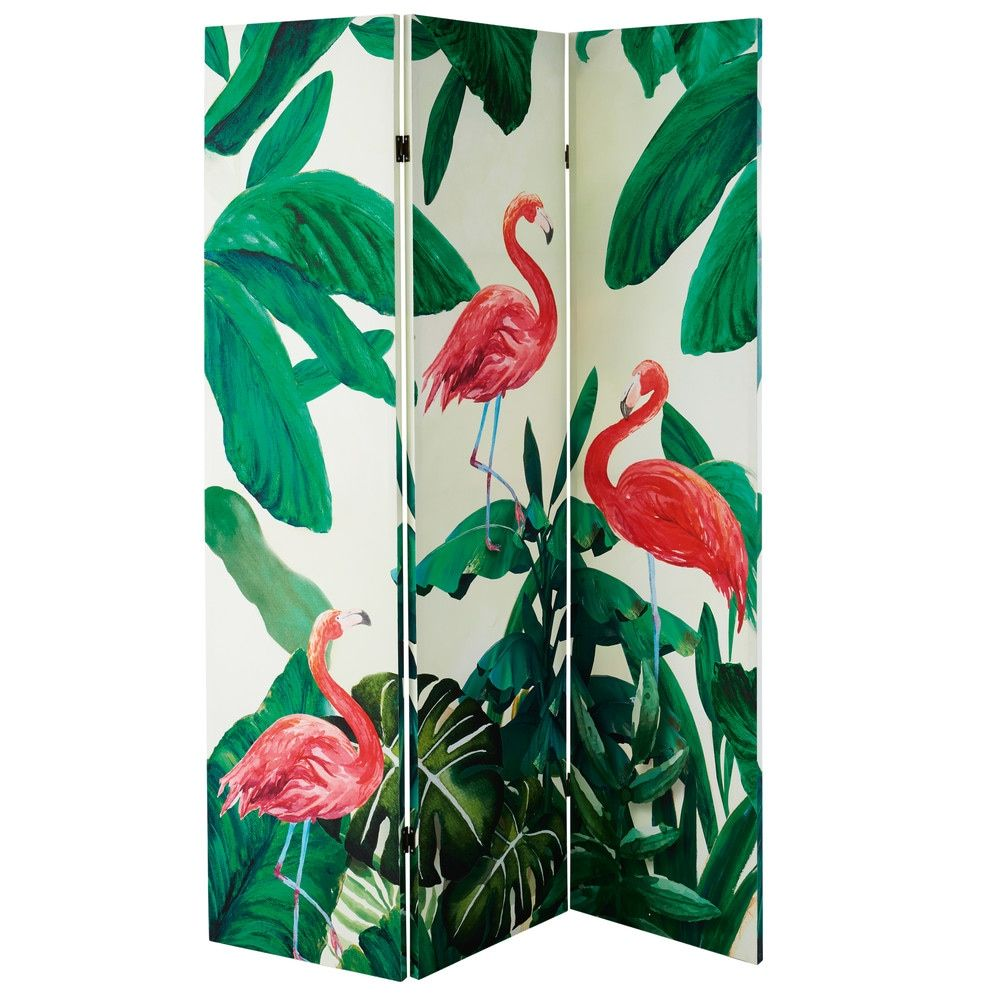 paravent imprim flamants roses maisons du monde d co pinterest flamants roses paravent. Black Bedroom Furniture Sets. Home Design Ideas