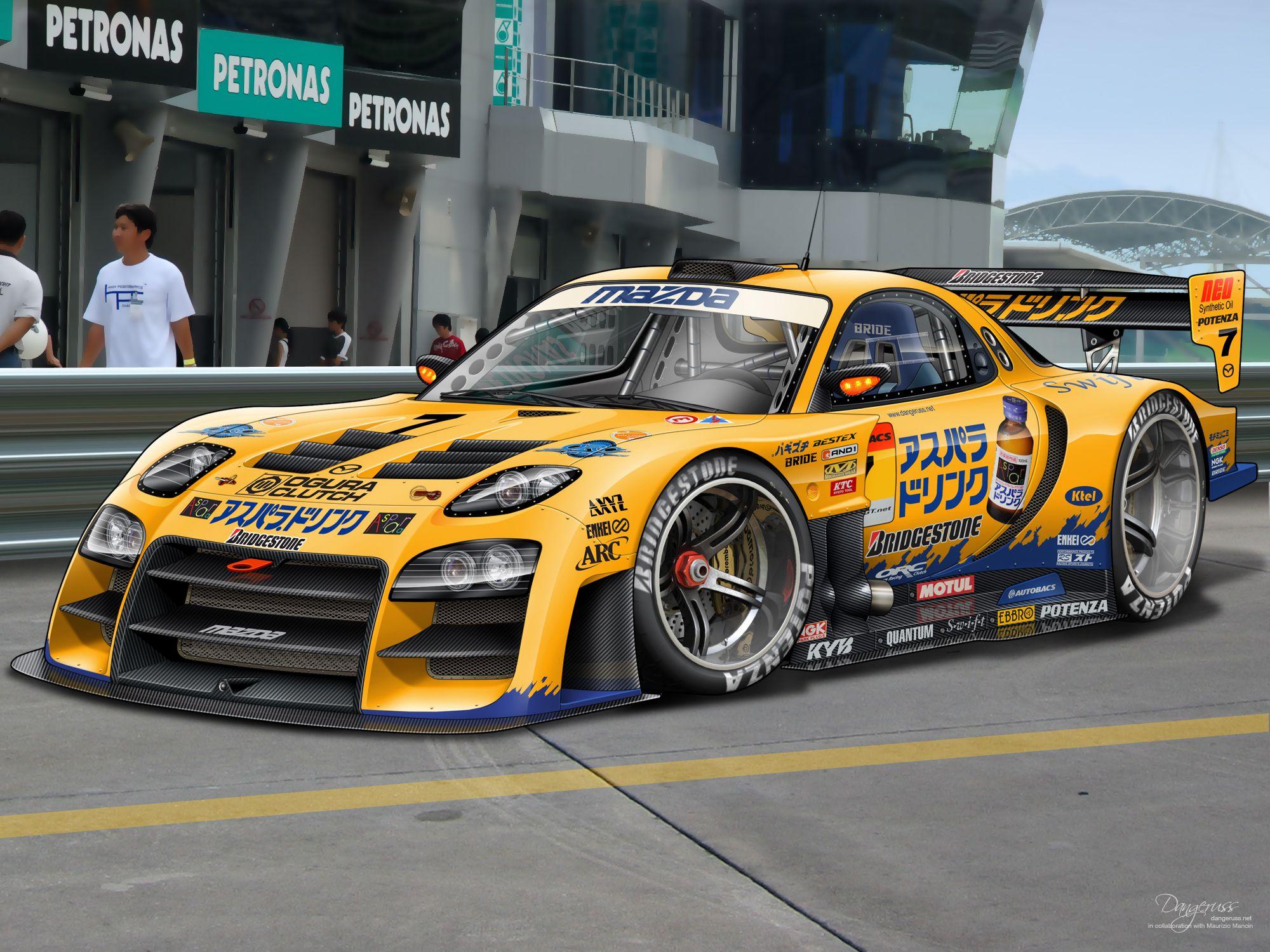 Mazda Rx 7 Super Gt Super Car Racing Mazda Rx7 Sports Car Wallpaper