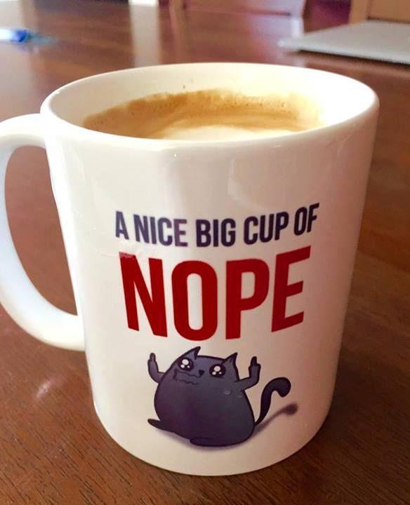 Cup Of Nope Canecas Jogos De Cartas