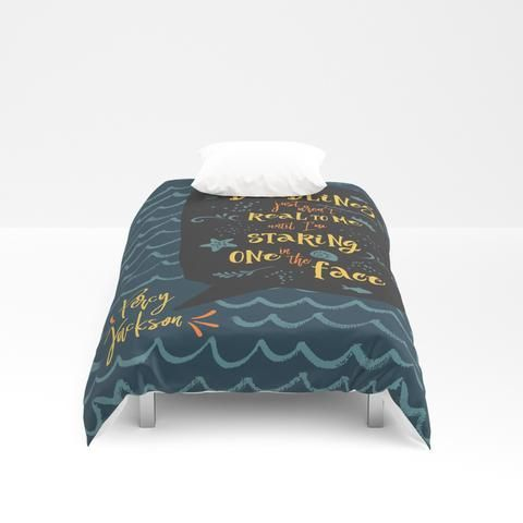 Deadlines... Percy Jackson Quote Duvet Cover images
