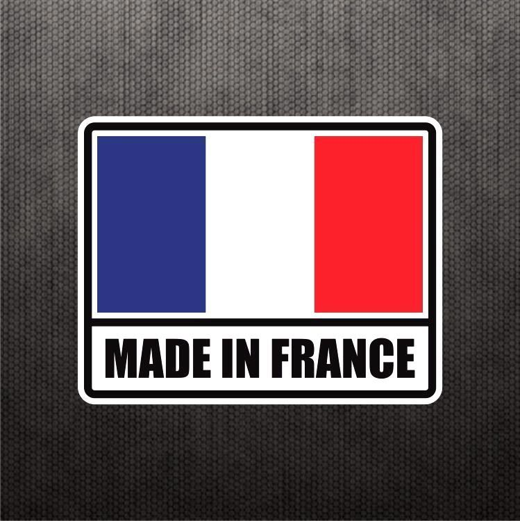 Made in france flag sticker vinyl decal french car sticker for peugeot renault