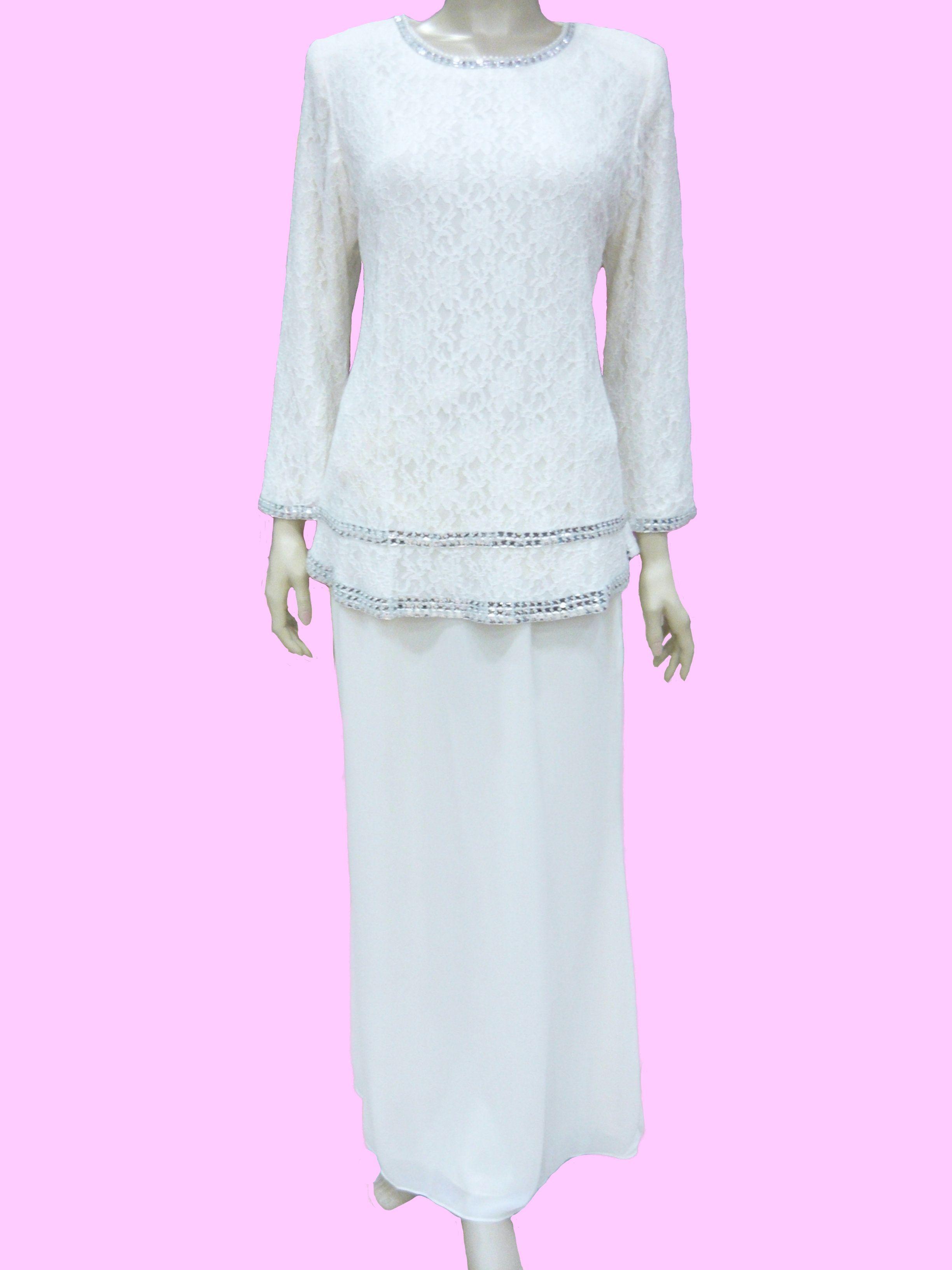 Butik Jhana Fashion Peplum Dress Pearl Cream