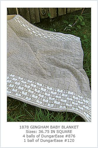 Ravelry: Gingham Baby Blanket pattern by Hélène Rush