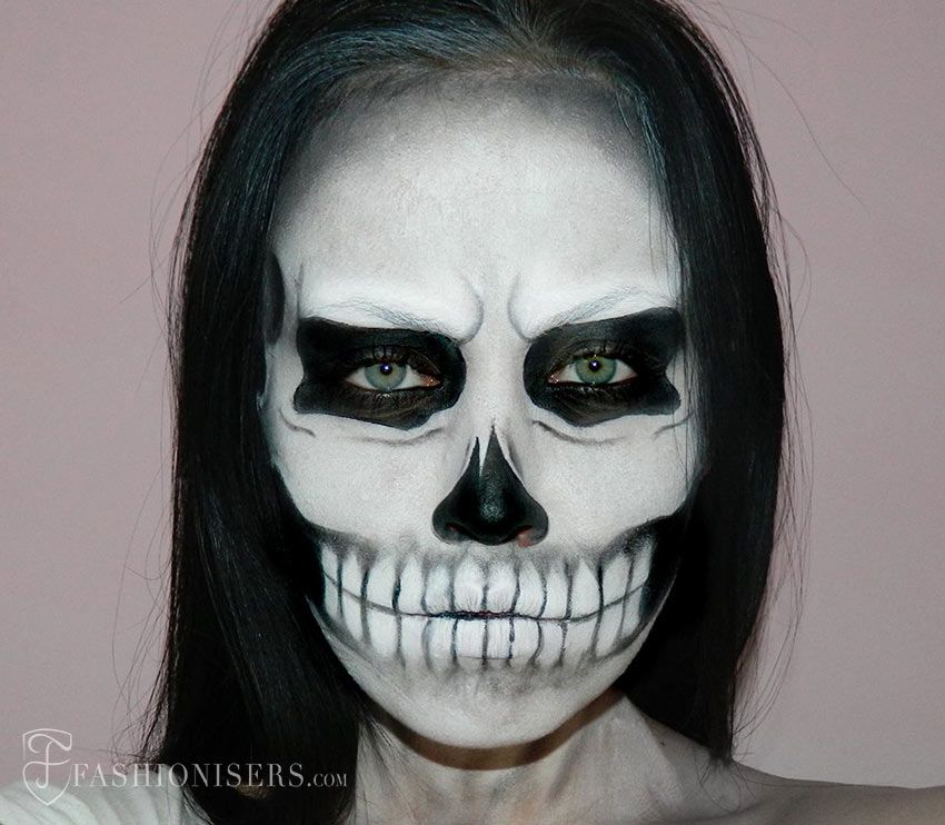 lady gaga inspired halloween skull makeup tutorial - Halloween Tutorials