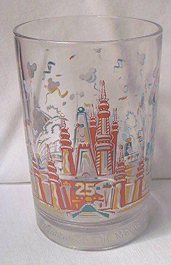 Glass Walt Disney World Remember The Magic 25th Ann Donald Duck Made France