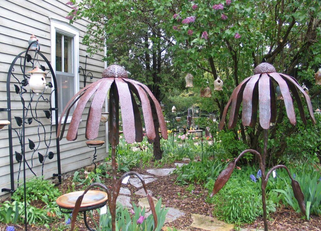 Superb Metal Garden Sculpture Decorative Flower Ball | Wrought Iron Rusted Flower Garden  Stake : Wrought Iron