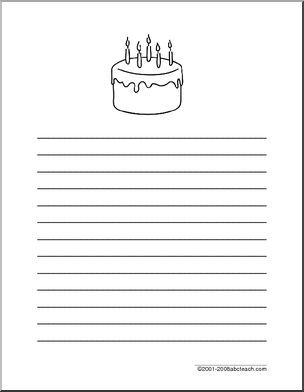 writing paper birthday primary wide lined paper an writing paper birthday primary wide lined paper an illustration of x at the top line spaces between lines