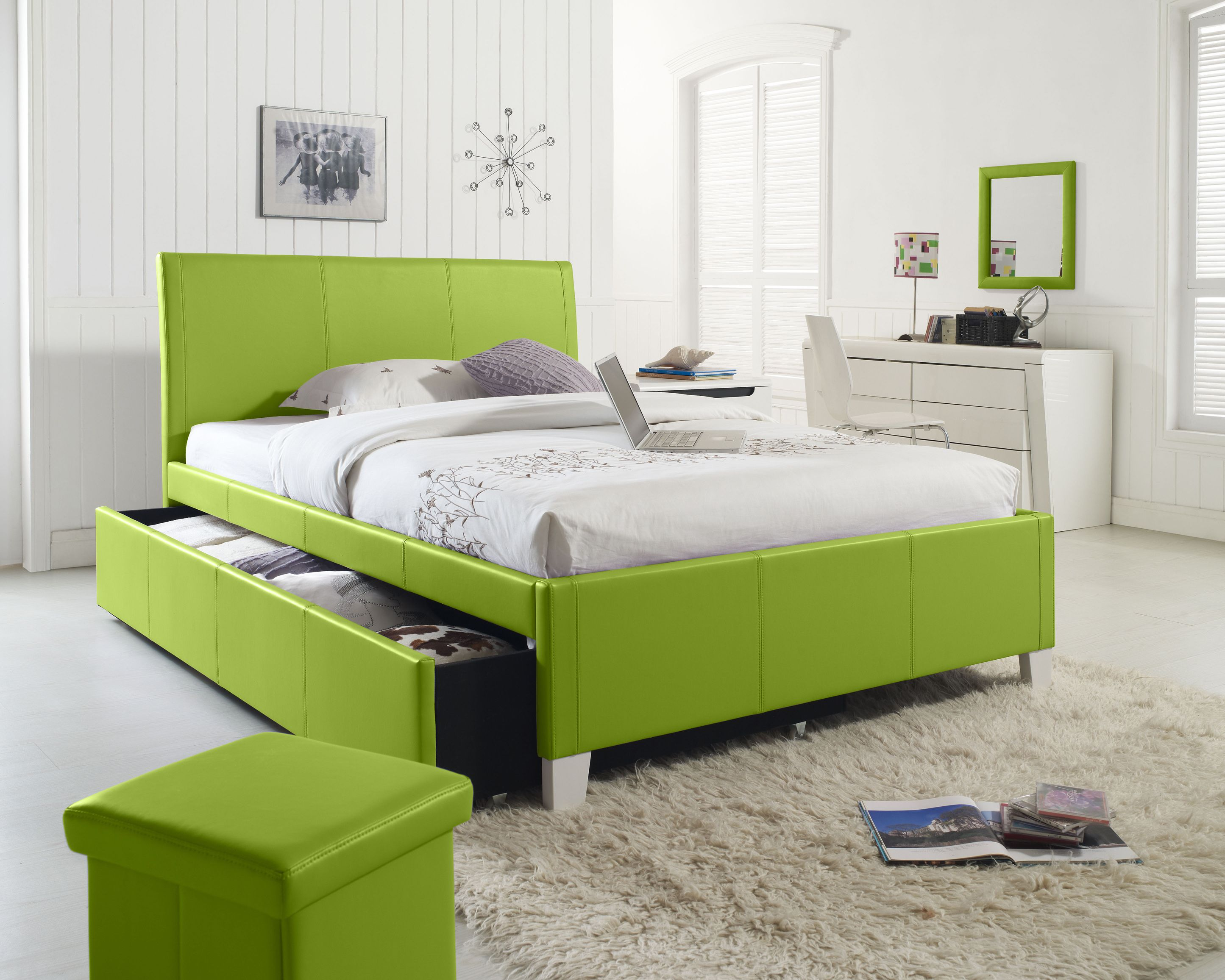 Standard Furniture Fantasia Trundle Full Bed in Green