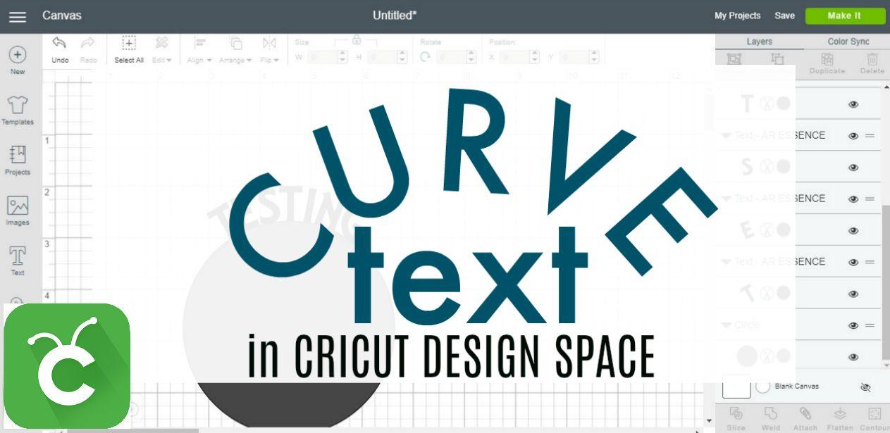 How to curve text in cricut design space cricut