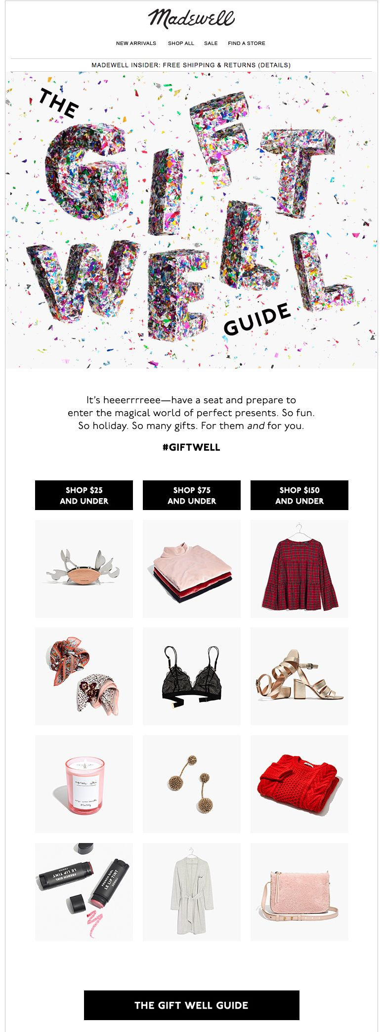 Madewell Gift Guide Email It S Heeerrre The Gift Well Guide