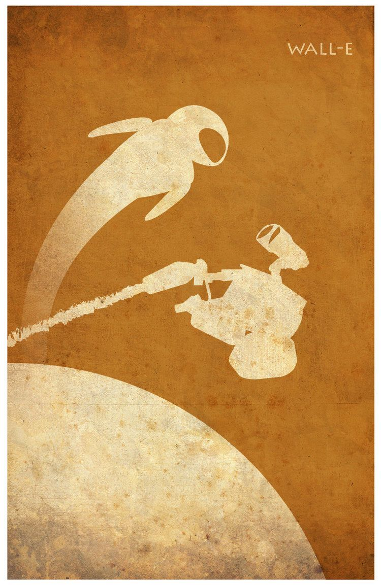 Minimalist Vintage-Style Pixar Poster Set   Ratatouille, Minimalist ...