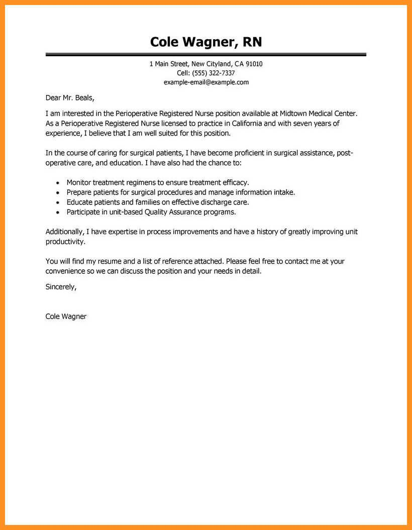 27 New Grad Rn Cover Letter 9 10 Sample Nursing Wear2014