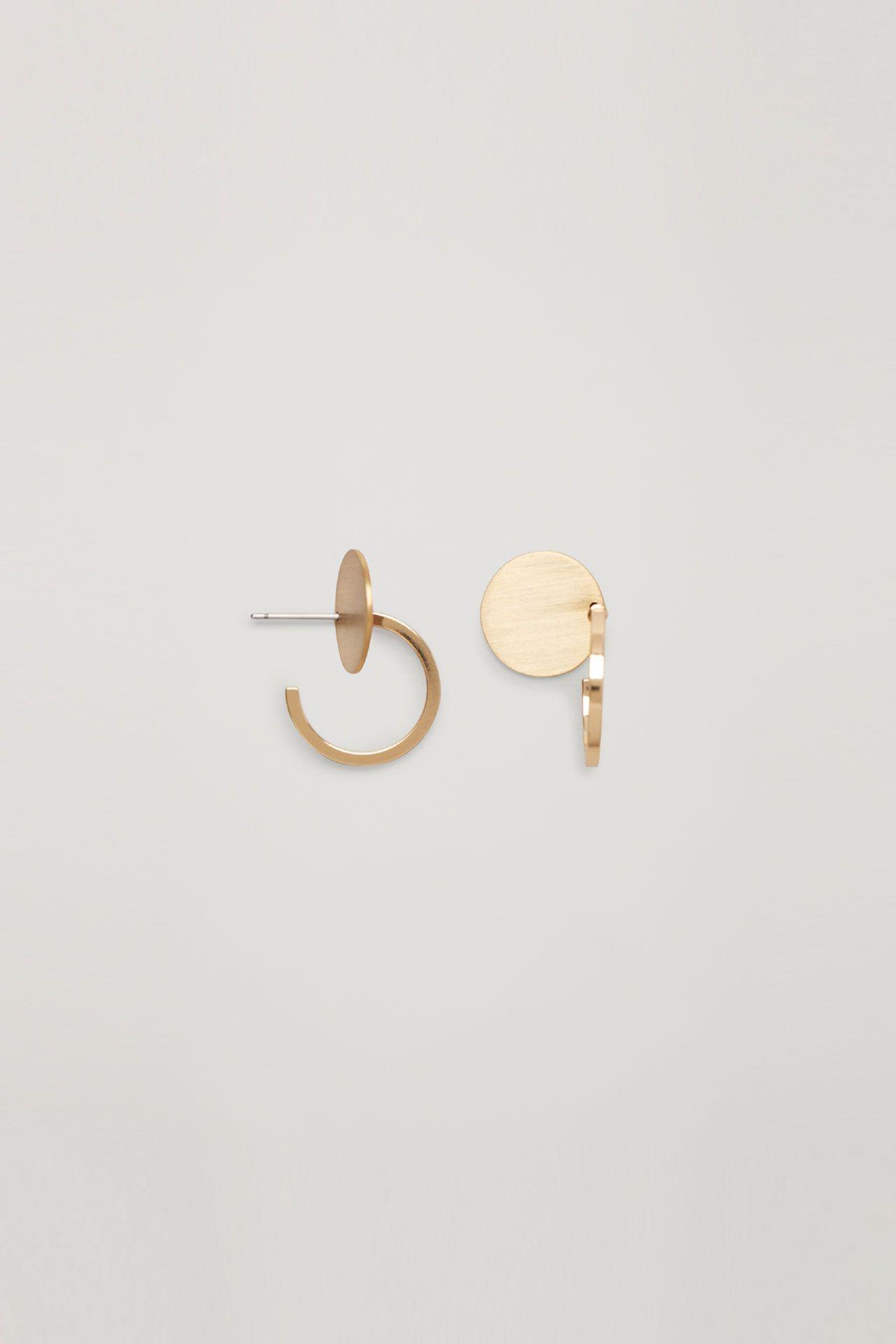 7166e7c3b COS | Small metal-disc hoop earrings | aksesuar in 2019 | Earrings ...
