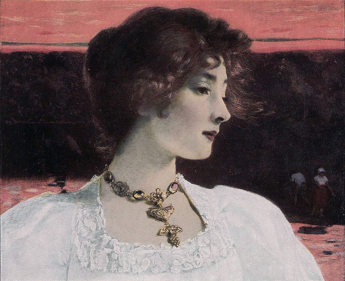 Evening Peace, Carl Gussow, Moderne Kunst, 1900.Via..