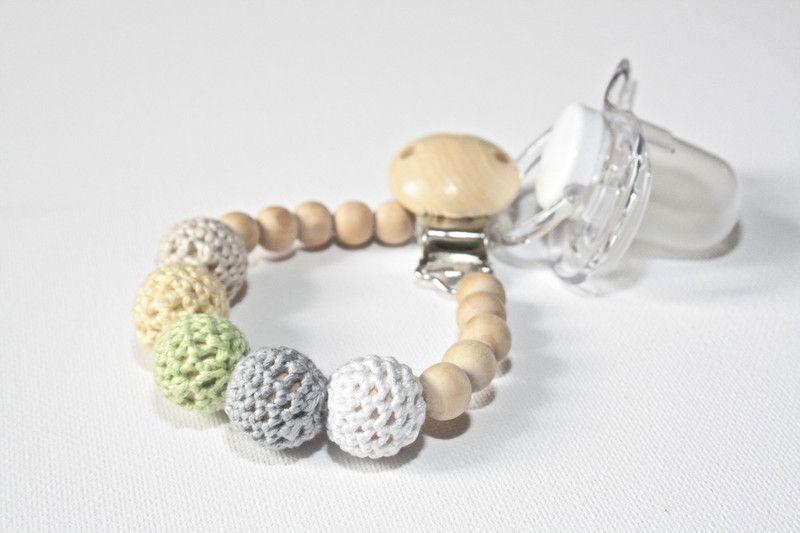 Schnullerketten - Holz-Schnullerkette - ein Designerstück von for-little-monsters bei DaWanda