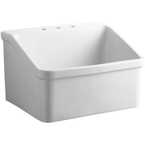 Wall Hung Utility Sink.Hollister 28 X 22 Wall Mounted Laundry Sink Antone