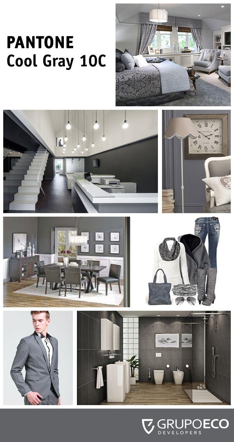 Combina tu estilo, la moda y tu hogar. Pantone Cool #Gray