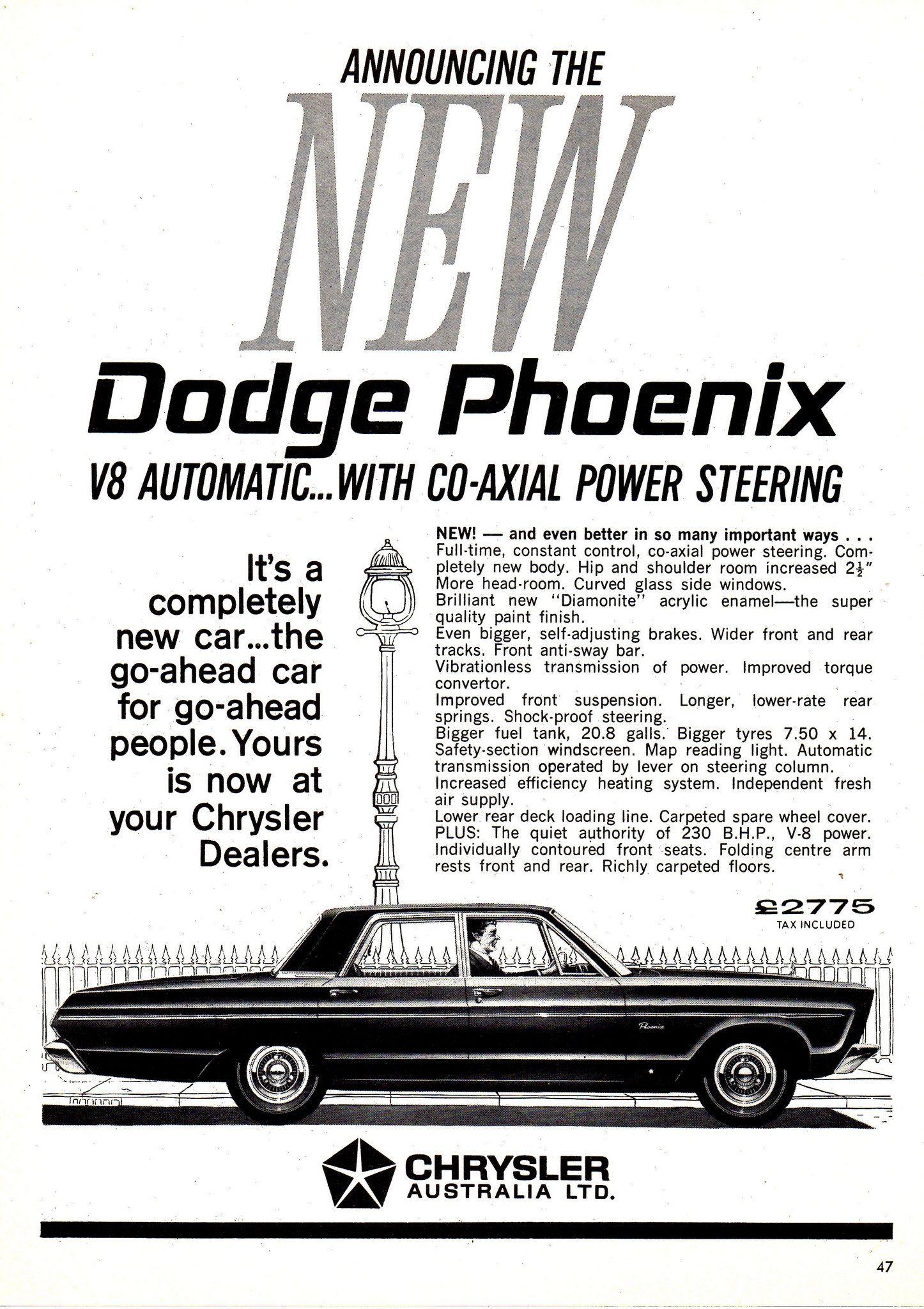 Ap2d Dodge Phoenix Chrysler Aussie Original Magazine