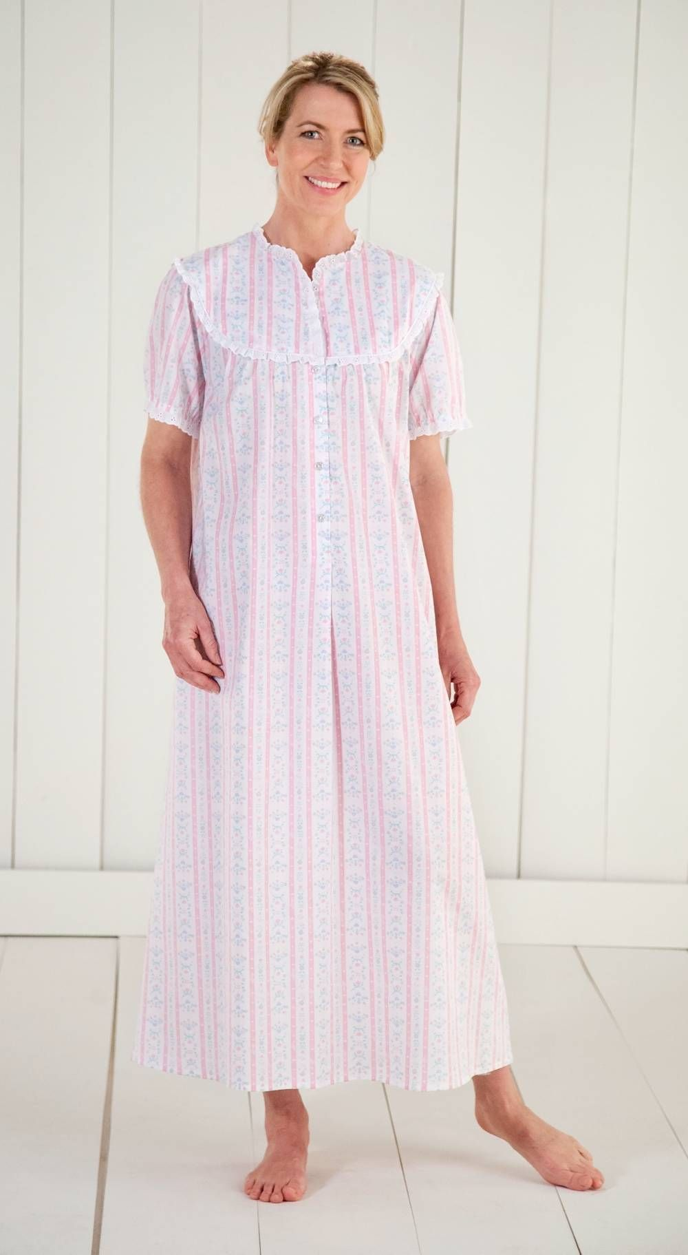 c0dac2462d Lanz of Salzburg Tyrolean Print Nightgown in Cotton Lawn Edith act 3 ...