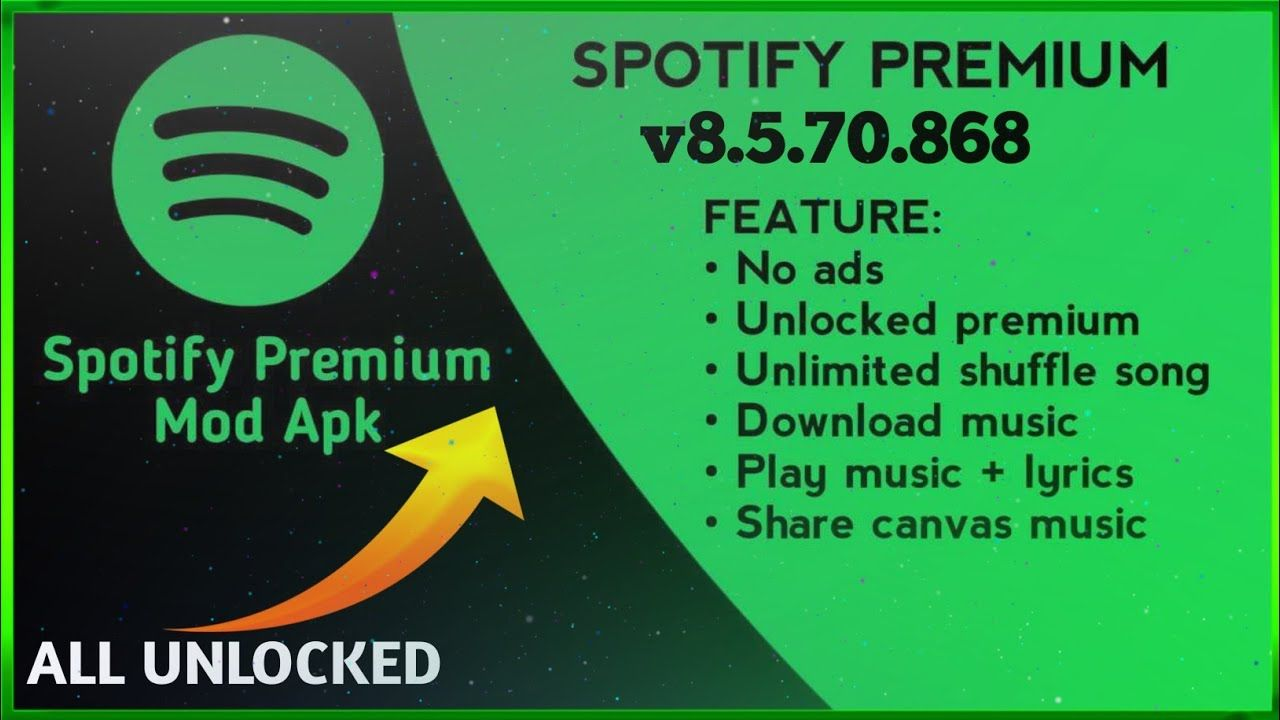 Spotify Mod All Feacture Unlocked Apk In 2021 Spotify Premium Spotify App Spotify
