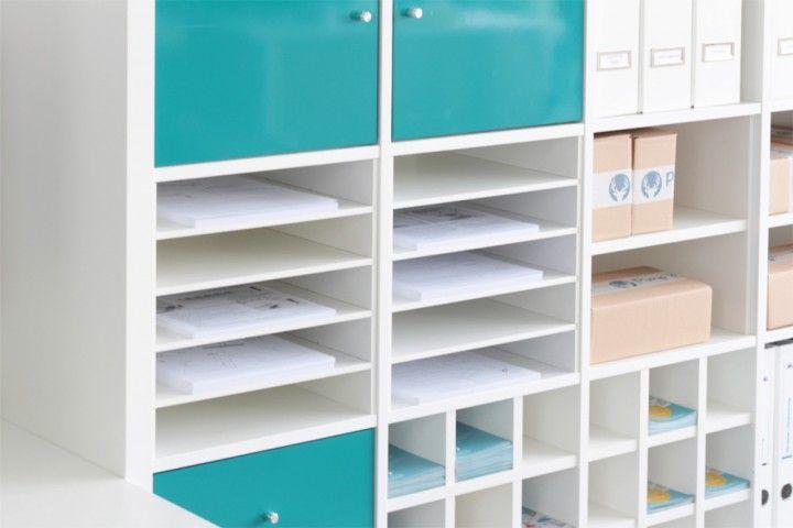 regaleinsatz f r ikea kallax regal als postfachnutzung angelika regal m bel und kallax regal. Black Bedroom Furniture Sets. Home Design Ideas