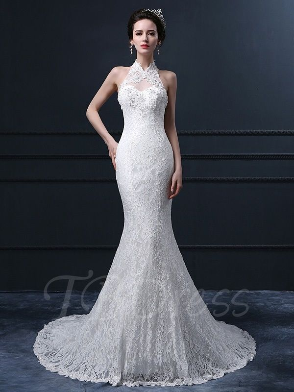 Tbdress Offers High Quality Halter Neck Trumpet Mermaid Lace Wedding Dress Dresses Unit Price Of 192 84