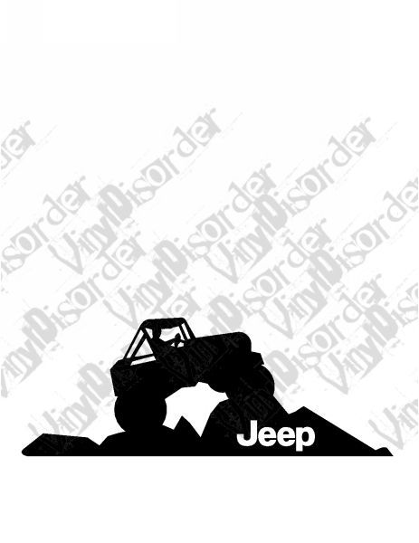 Jeep 4x4 4 X 4 Offroad Rock Climbing Vinyl Decal Car Window