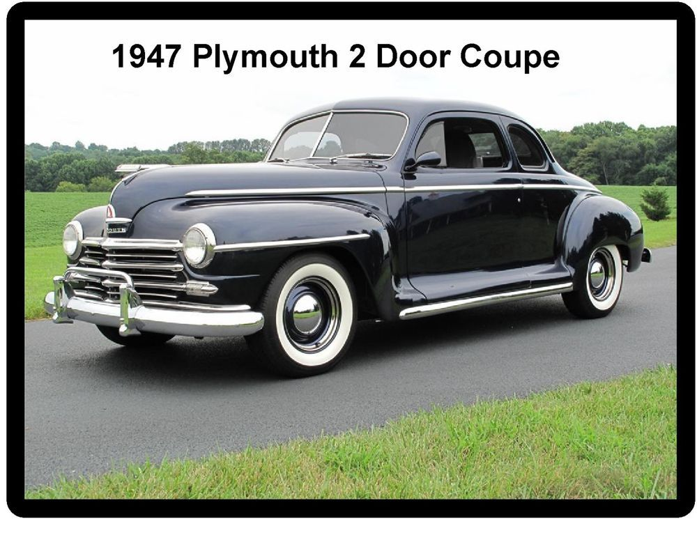 1947 Plymouth 2 Door Coupe Auto Refrigerator Tool Box Magnet Plymouth Cars Plymouth Classic Ford Trucks