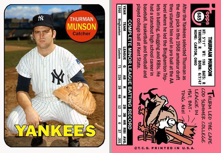 1969 Topps Thurman Munson Baseball cards, New york