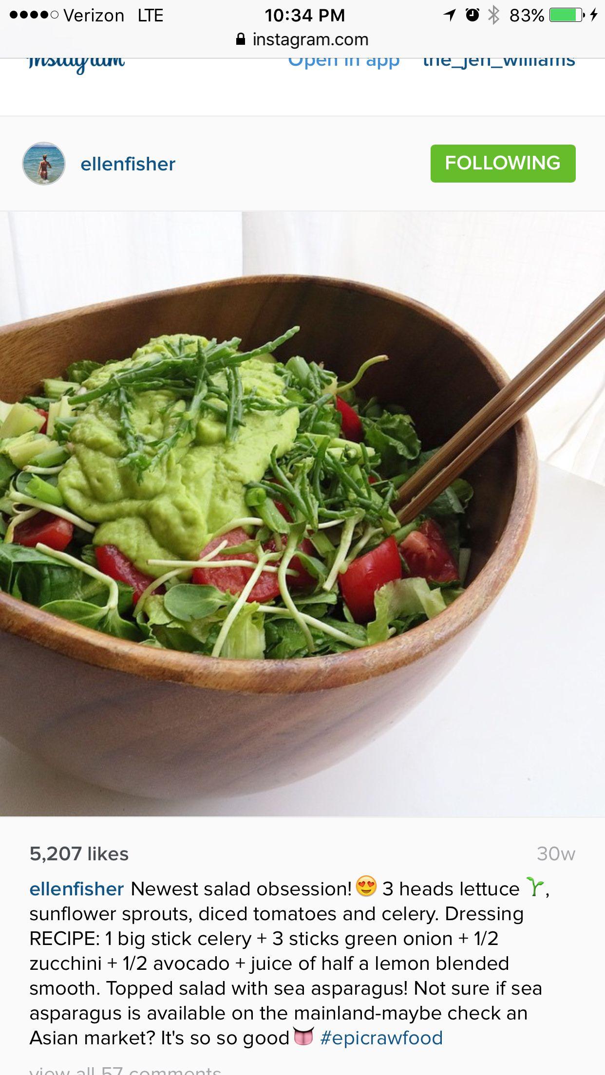Raw Salad Dressing By Ellen Fisher Raw Food Detox Raw Food Recipes Vegan Eating