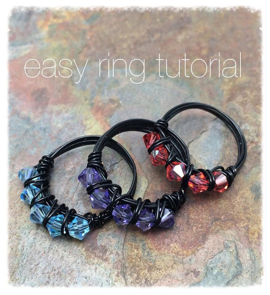 Easy Ring Wire Wrap Tutorial, Instant Digital Download, DIY, Fast ...