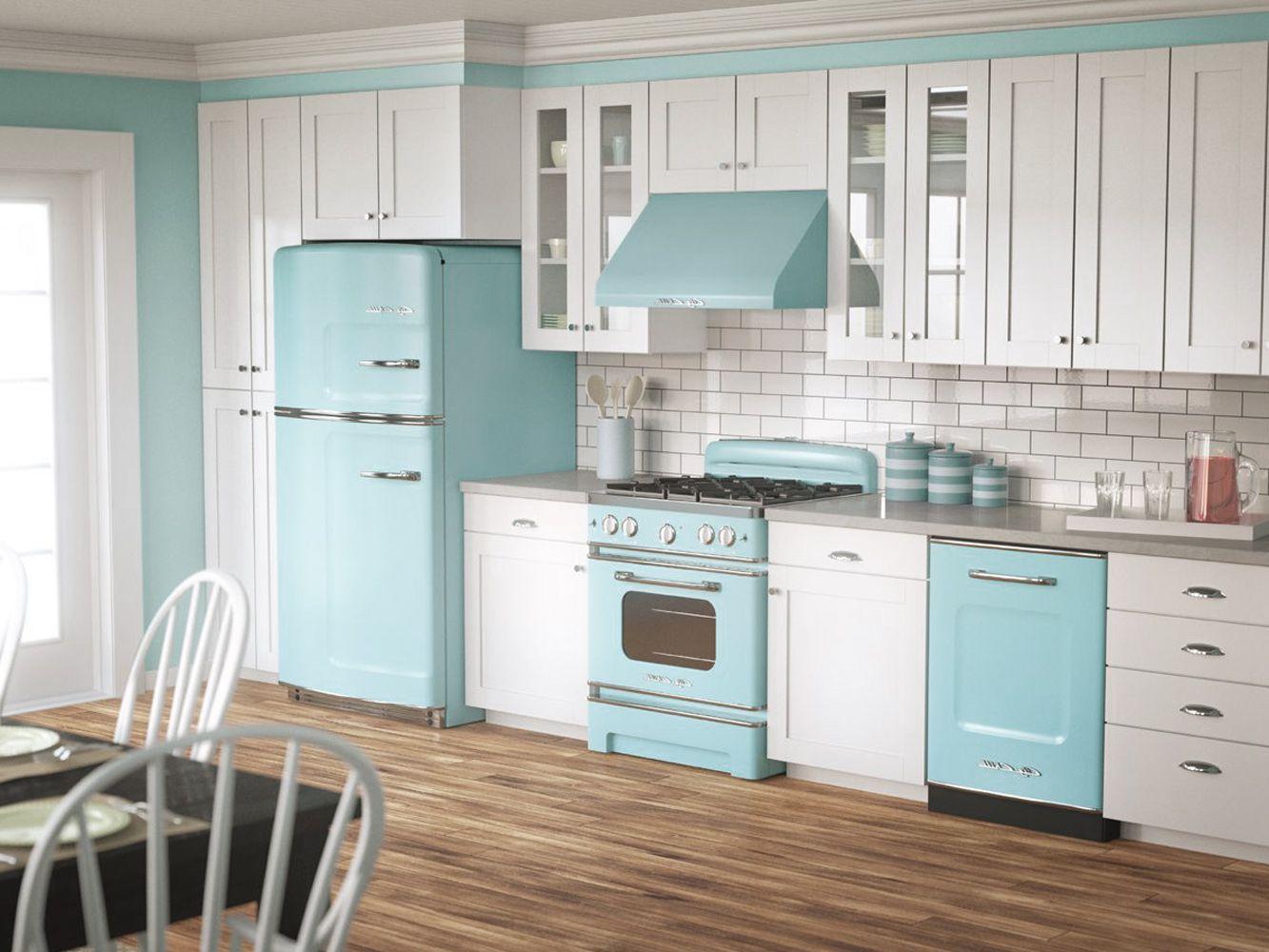 1950s Home Decor Pastel Colors Kitchen Interior Ideas
