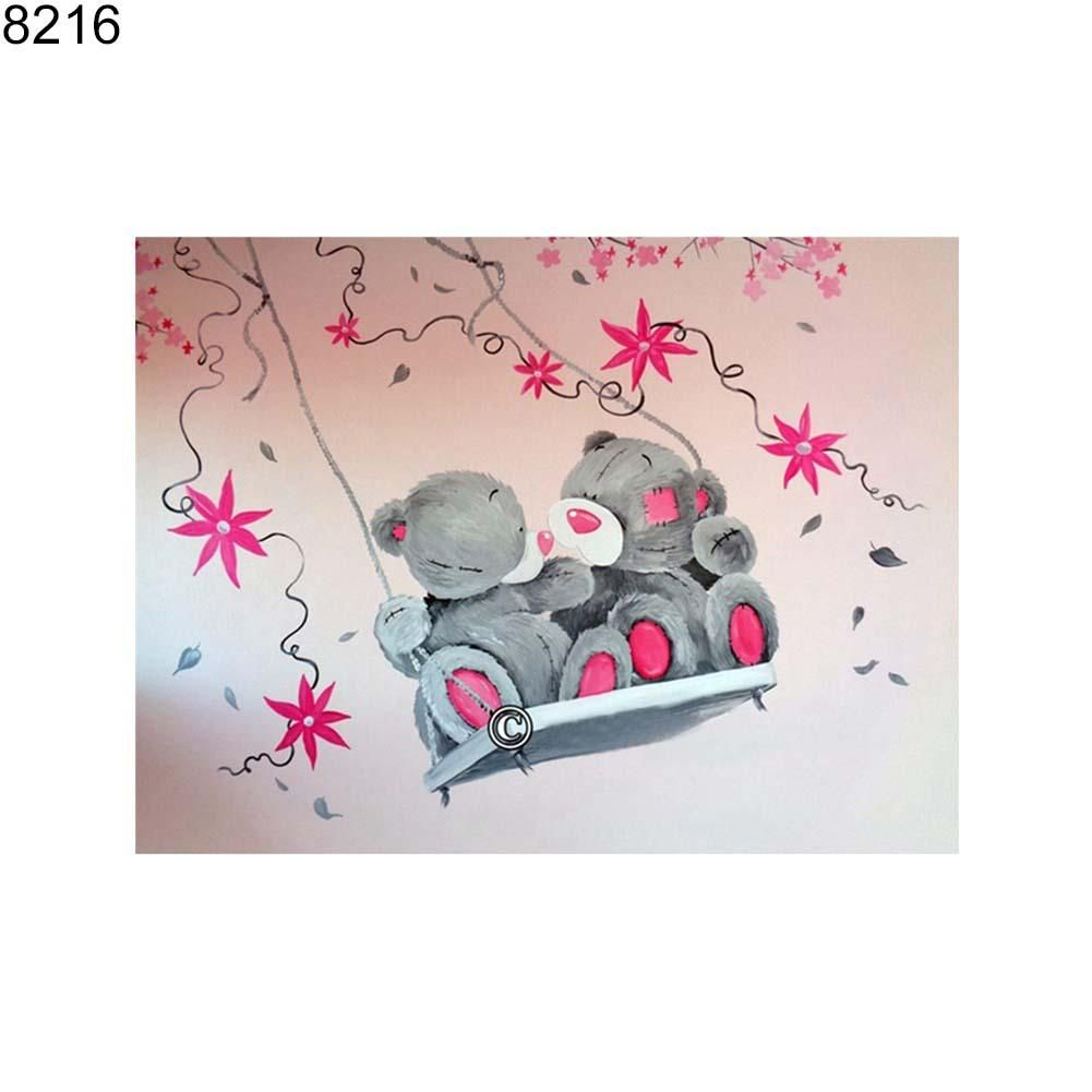 Photo of Cartoon Bear DIY 5D Resin Partial Diamond Painting Cross Stitch Home Decor – as the picture y