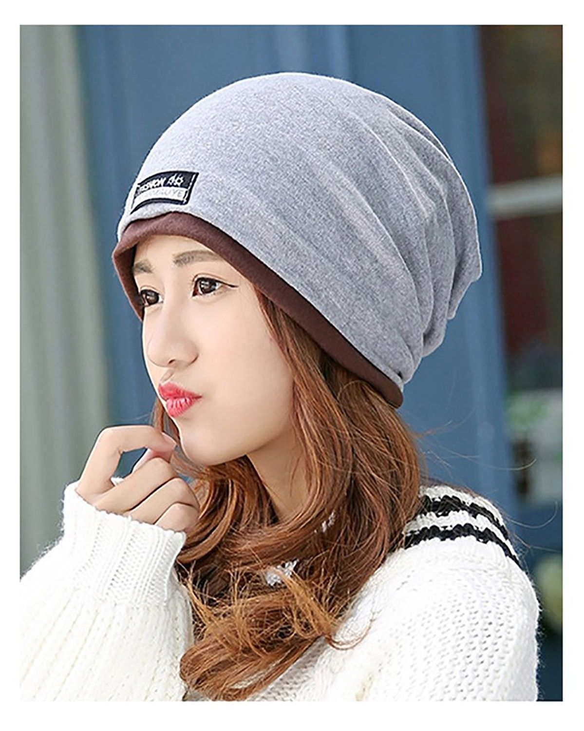85052c297 Unisex Adult Cotton Slouchy Beanie Skull Cap Cycling Hat Mult Colors ...